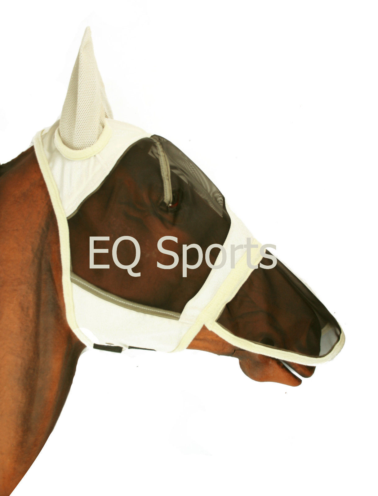 Full Face Fly Mask Veil With Nose Eq Sports